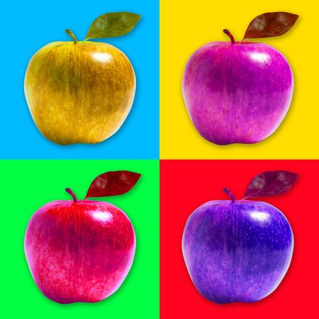 Apple pop art style photo