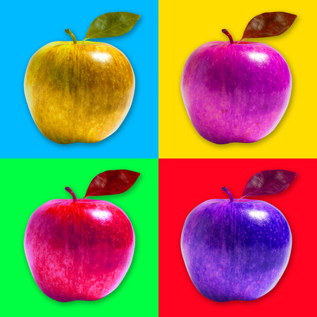 warhol: Apple pop art style