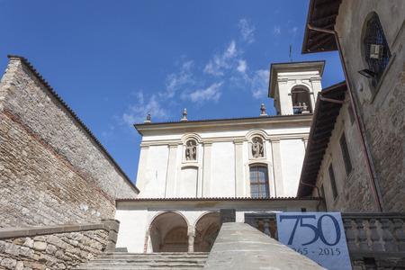 romanesque: Romanesque church in Bergamo Stock Photo