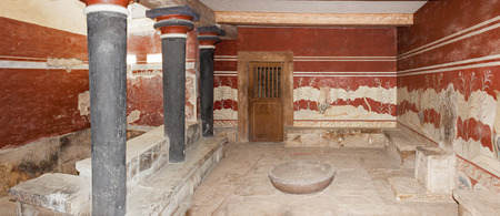 minoan: The Throne Room at Minoan palace of Knossos
