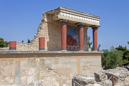 minoan: The Minoan palace of Knossos in Crete