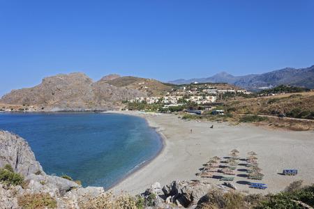 Bay of Ammoudi, near Plakias, Crete, Greece. 版權商用圖片
