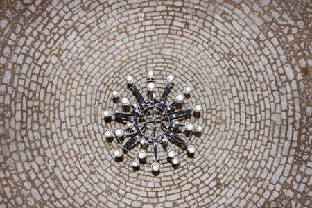 rethymno: The ceiling in the Mosque Neratze, Rethymno, Crete