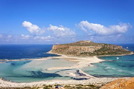 crete: Balos beach at Gramvousa, Crete Stock Photo