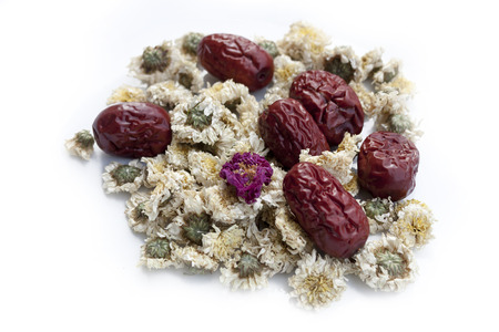 jujube fruits: Dried jujube fruits, Chinese dates and Chinese chamomile flowers