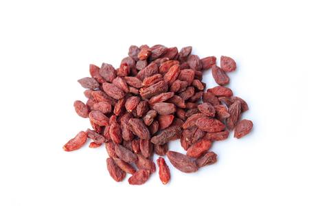 lycii: Pile of dry goji berries isolated