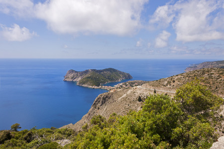 cefallonia: the peninsula with the picturesque village of assos in Kefalonia