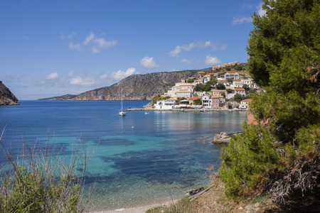 cefallonia: the picturesque village in the bay of assos