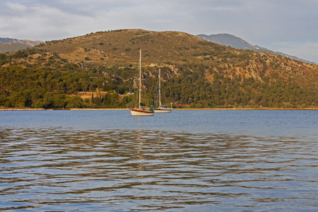 cefallonia: A view of the bay of Argostoli in Kefalonia, Greece