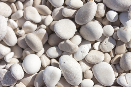 background with smooth white pebbles