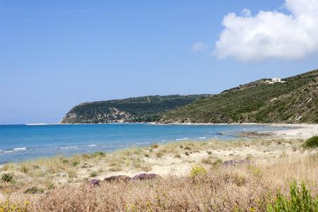 the Kaminia Beach in Kefalonia. Stock Photo