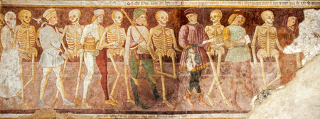 Clusone, Fresco, Dance of the Death Stock fotó