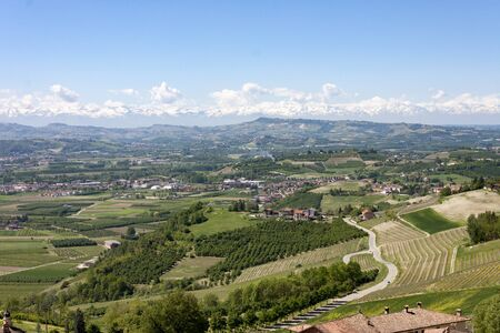The splendid vineyards of Langhe and Monferrato, in the Italian region of Piedmont, which includes some of the most characteristic towns of Langhe, Roero and Monferrato.