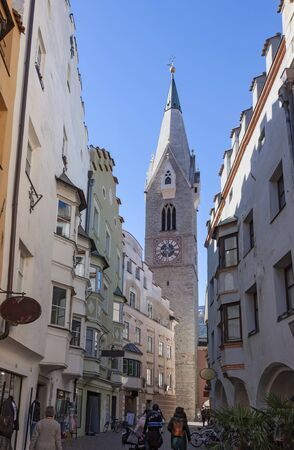 a view of the historic center of Bressanone (Brixen)