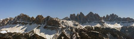 The Odle group seen from the Plose. The Odle are a mountain range in the Dolomites, in South Tyrol.