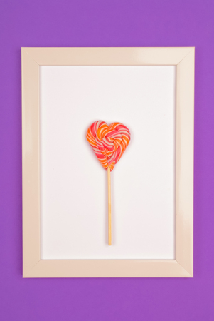 Lollipop in the form of a heart.