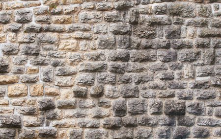 View of the fortress stone wall close-up, background texture.