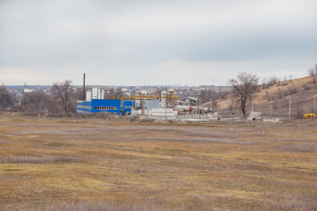 vacant lot: Plant in a vacant lot near the village and panoramic view of the territory.