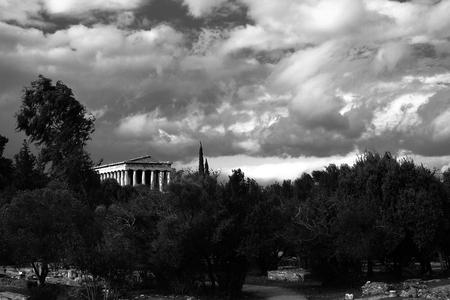 The half-ruined temple of Hephaestus on the north-west side of the Athenian Agora.