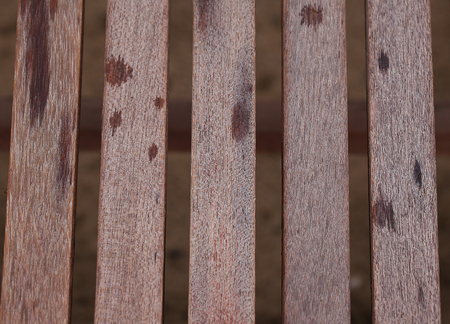 Old wooden slats with peeling paint.Background texture. Stock Photo