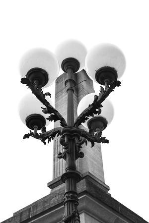 Street lantern beautiful shape close-up. Reklamní fotografie