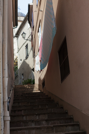 Old little italian street. Beautiful view. Background.