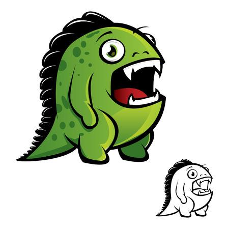 Vector illustration of monster Illustration