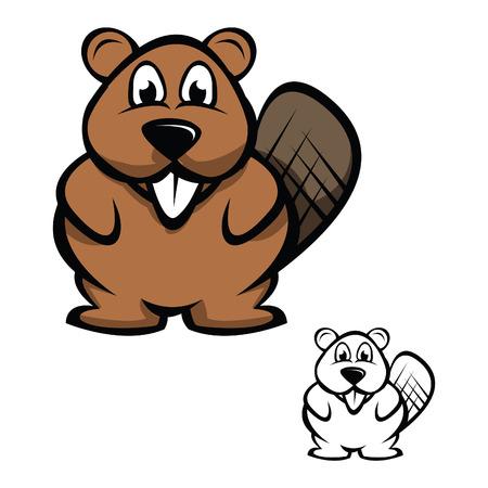 castor: Ilustraciones Vectoriales de castor Vectores