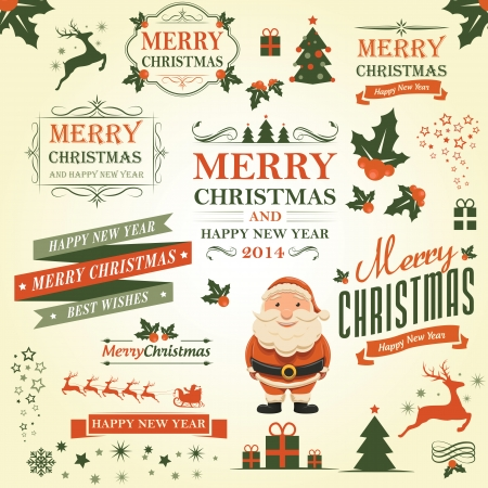 Illustration - Christmas decoration vector design elements collection