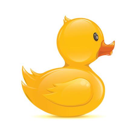 Klassieke rubber duck Illustratie geïsoleerde Vector Illustratie