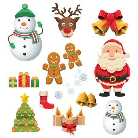 Set of christmas icons - Vector illustration Illustration