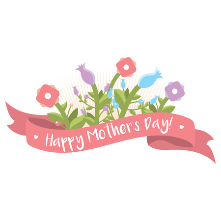 Happy Mothers Day floral greeting