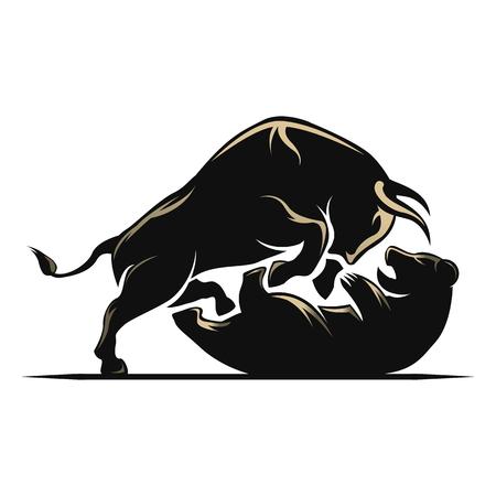 stock market crash: Bear and bull stock market