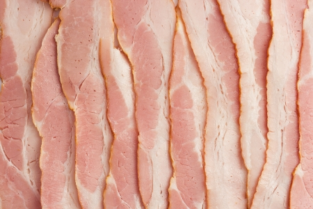 cold cuts: close-up photo of bacon for backgrounds or textures