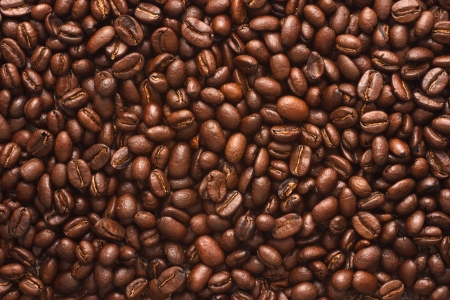 coffee beans texture background photo