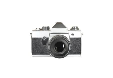 Oude fotocamera op houten tafel achtergrond