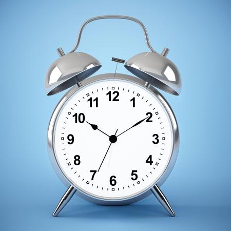 ringer: big alarm clock on blue background