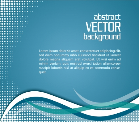 water flow: abstract blue vector background illustration