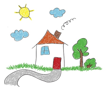 hand drawn sketch house  Vector