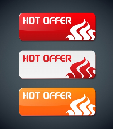 hot offer card with fire