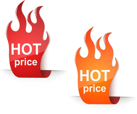 hot price: hot price stickers eps10