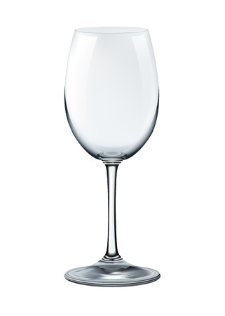 photorealistic empty wine glass isolated  illustration