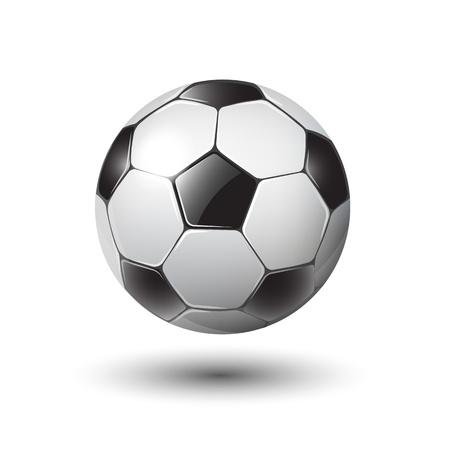 soccer: soccer ball on white  illustration