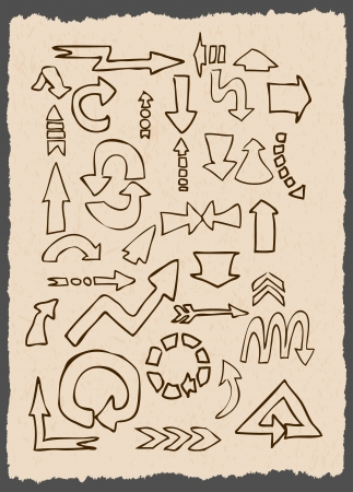 arrows different shape hand draw Stock Vector - 19392646