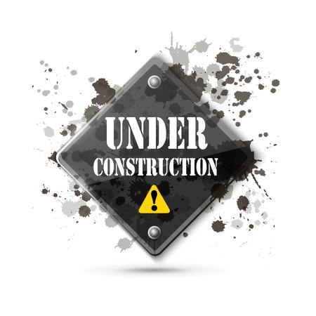 under construction: under construction sign on white   Illustration