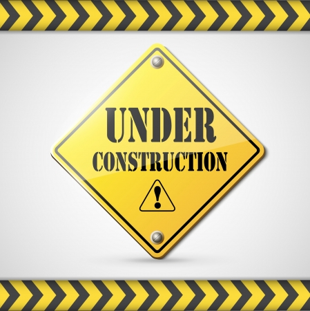 under construction: under construction sign on white  Illustration