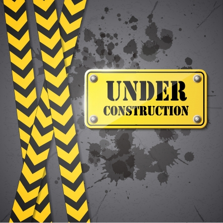recondition: under construction sign   Illustration