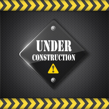 construction equipment: under construction sign   Illustration
