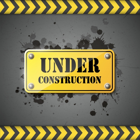 under construction sign eps10 Vector