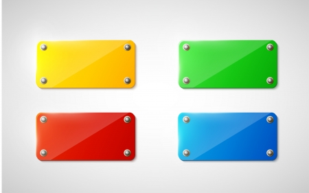 plastic signs on white background  Vector